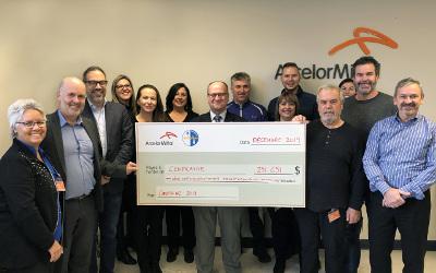ArcelorMittal et le Syndicat des Métallos s'unissent pour remettre plus de 251 000 $ à Centraide