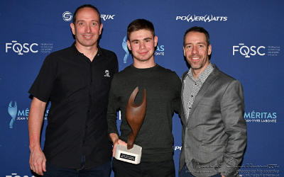 Le Contrecoeurois Tristan Jussaume nommé meilleur pistard junior masculin au Québec