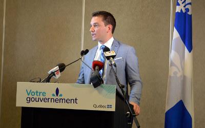 Épanouissement des aînés: Simon Jolin-Barrette annonce un investissement de 130 000$ dans Borduas
