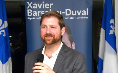 Le député Xavier Barsalou-Duval se réjouit des travaux du CN à Verchères