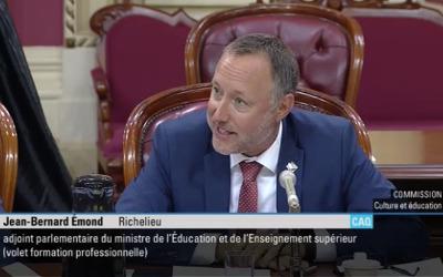Le député Jean-Bernard Émond entame la nouvelle session parlementaire avec optimisme