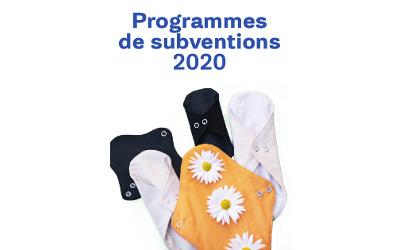 Subvention: achat de produits d'hygiène féminine durables