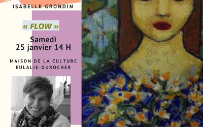 Maison de la culture Eulalie-Durocher: démonstration de l'artiste Isabelle Grondin