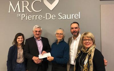 MRC Pierre-De Saurel: Holly Ratcliffe félicité pour le soutien financier obtenu