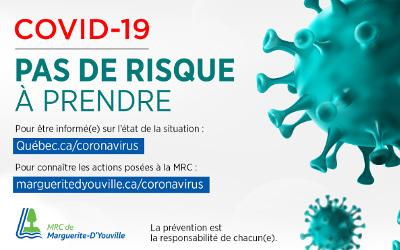Pandémie, Coronavirus (COVID-19): des mesures de prévention mises en place dès maintenant dans la MRC de Marguerite-D'Youville