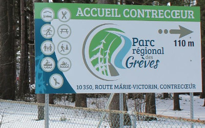 Parc régional des Grèves: accueil et sentiers fermés