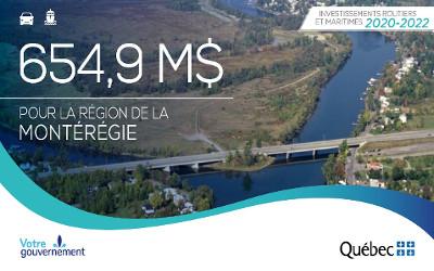 Investissements 2020-2022 du ministère des Transports en Montérégie: Simon Jolin-Barrette satisfait pour Borduas