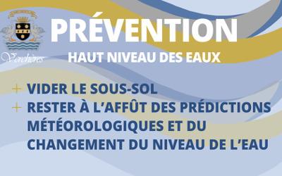 Municipalité de Verchères: prévention haut niveau des eaux