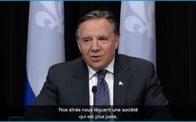 CHSLD et résidences privées pour personnes aînées : «Le renfort s'en vient», dit François Legault