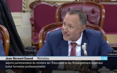 Le gouvernement du Québec présent pour nos entrepreneurs, assure le député Jean-Bernard Émond