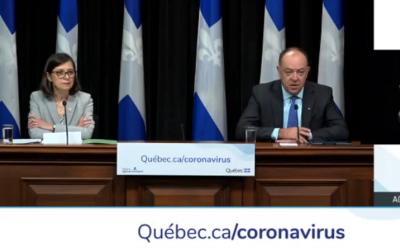 Pandémie de la COVID-19: le premier ministre François Legault durcit le ton contre les personnes et les commerces récalcitrants
