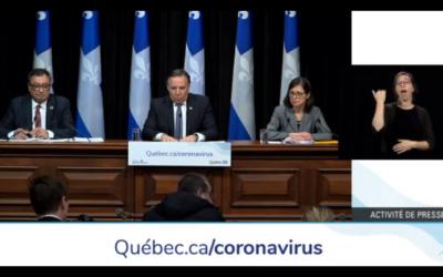Pandémie de la COVID-19: François Legault demande aux médecins d'aller prêter main-forte dans les CHSLD