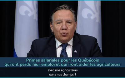 Pandémie de la COVID-19 «L'urgence nationale, c'est la situation dans nos CHSLD.» – François Legault