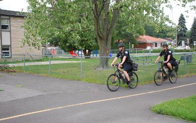 Régie intermunicipale de police Richelieu-Saint-Laurent: l'escouade à vélo en mode COVID-19