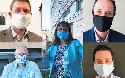 LANCEMENT DU MOUVEMENT « À VOS MASQUES, PRÊTS, SORTEZ! »: les Élu(e)s et Députés de la MRCVR portent le couvre-visage