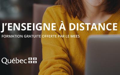 Entente avec le MEES: l'Université TÉLUQ offre une formation gratuite sur l'enseignement à distance