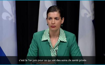 Pandémie de la COVID-19: Québec autorise les rassemblements extérieurs de 10 personnes et moins, sous certaines conditions