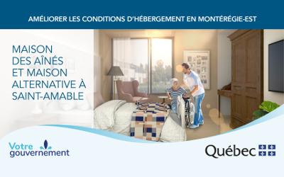 La ministre Marguerite Blais et la députée Suzanne Dansereau annoncent la construction d'une maison des aînés à Saint-Amable