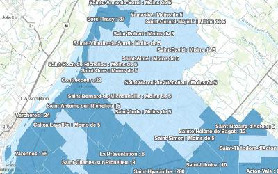 Pandémie de COVID-19: les données pour la région au 5 juin disponibles