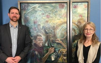 L'exposition L'Art bleu en ligne: Xavier Barsalou-Duval invite la population à une exposition virtuelle sur son site Internet des œuvres de Carole Bibo