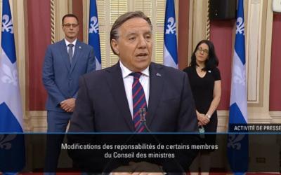 Le premier ministre François Legault procède à des ajustements aux responsabilités de certains ministres