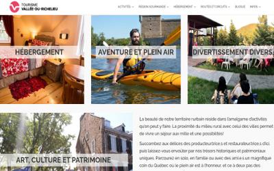TOURISME VALLÉE-DU-RICHELIEU: une nouvelle signature graphique et un nouveau site Web