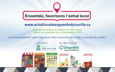Lancement d'une campagne d'achat local pour injecter 100 000 $ dans l'économie de la MRC de Marguerite-D'Youville