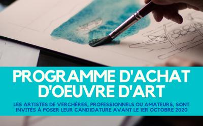 Municipalité de Verchères: programme achat d'oeuvre d'art