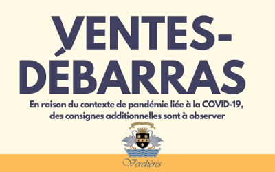 22 et 23 août à Verchères: ventes-débarras