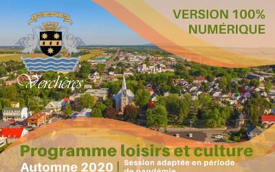 Verchères: programme loisirs et culture automne 2020