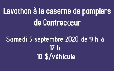Association des pompiers de Contrecœur et Centre d'action bénévole de Contrecoeur: Lavothon