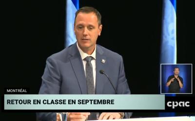 Le gouvernement du Québec actualise le plan de la rentrée scolaire
