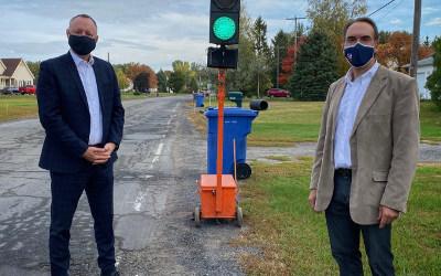 Le député Jean-Bernard Émond annonce l'octroi d'un montant de 2,8 M$ pour l'amélioration du réseau routier de la municipalité de Saint-Roch-de-Richelieu