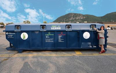 Recyclage du verre: la MRCVR déploie son nouveau service Point de verre