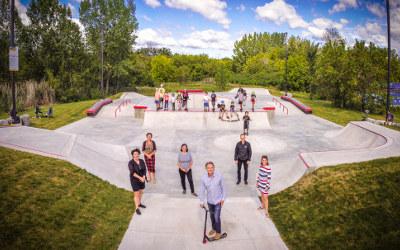 Inauguration du nouveau Skate Plaza à Varennes
