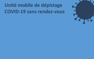 COVID-19: clinique mobile de dépistage à Contrecoeur le 9 septembre