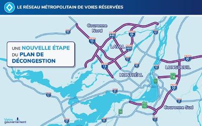 Votre gouvernement en action pour le Réseau métropolitain de voies réservées