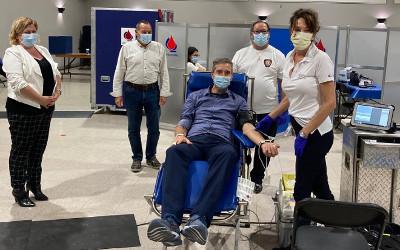 Collecte de sang du Maire et des pompiers de Verchères: un gros merci !