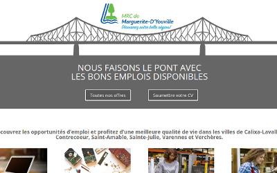 MRC de Marguerite-D'Youville: un nouveau portail pour les offres locales d'emploi