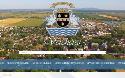 Le site Internet de La Municipalité de Verchères fait peau neuve