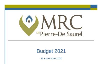Budget 2021 de la MRC de Pierre-De Saurel: sage et profitable pour la région