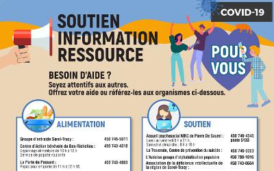 Mise à jour de l'outil des ressources sociales et communautaires offertes dans la MRC de Pierre-De Saurel