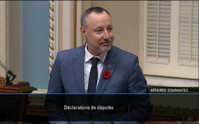 Dans une déclaration prononcée au salon bleu: le député Jean-Bernard Émond souligne le 100e anniversaire de la Laiterie Chalifoux