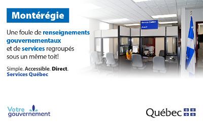 Transformation des bureaux de Services Québec dans la région de la Montérégie