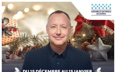 Du 15 décembre au 15 janvier: le député Jean-Bernard Émond doublera les dons effectués à la Fondation du Cégep de Sorel-Tracy et à la Maison l'Ancrage Pierre-De Saurel