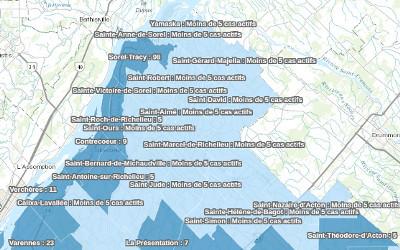 Pandémie de COVID-19: les données pour la région au 24 janvier disponibles