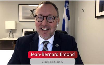 Jean-Bernard Émond fier d'une importante contribution financière de 850 000$ à Rio Tinto Fer et Titane à Sorel-Tracy !