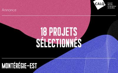 Un soutien financier pour 18 projets artistiques et littéraires en Montérégie-Est