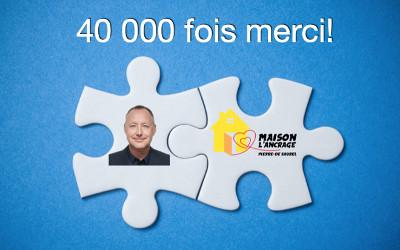 La population relève le « Défi Jean-Bernard Émond »: 40 000$ pour la Maison L'Ancrage Pierre-De Saurel