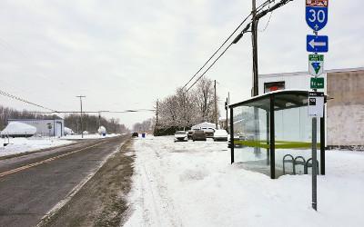 Contrecoeur: nouveaux abribus sur la route Marie-Victorin